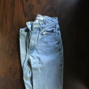 Light wash American Apparel high waisted jeans